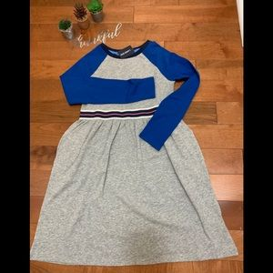 Land's End casual jersey knit color block dress